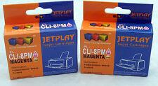 2 CANON CLI8 PHOTO MAGENTA ridotto in schegge Compatibili Cartucce di inchiostro-UK Venditore