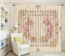 Square Symmetry Flower 3D Curtain Blockout Photo Printing Curtains Drape Fabric