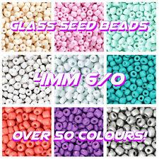 RAINBOW 💛🧡❤️️💚💙6/0 GLASS SEED BEADS 4MM ROCAILLES 20G BAGS JEWELLERY MACRAME