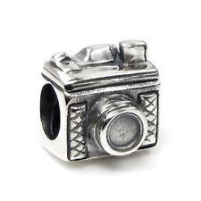 Sterling Silver Photographer Camera Snapshot Bead for European Charm Bracelets