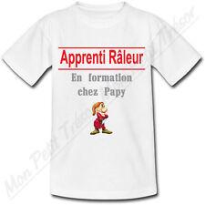 T-shirt Enfant Apprenti Râleur En formation chez Papy