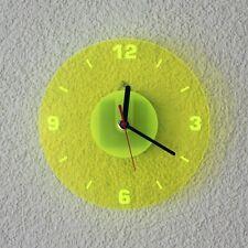 Acrylglas Quarz Wanduhr 19cm Rund neon transparent fluoreszierend - Farbauswahl