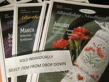 Victoria Sampler Birthday Needleroll Cross Stitch CHART Leaflet-Your Choice