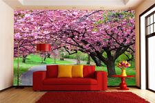 3D Bright Huge Peach Flowers Wallpaper Decal Decor Home Kids Nursery Mural  Home