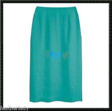 Kaleidoscope TURQUIOSE Blue knee length PENCIL skirt UK 10 12 18 EU 38 40 46 NEW