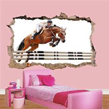 Show de caballo de salto ecuestre Pared Adhesivo Decoración Habitación Arte Calcomanía Mural SO3 De Oficina