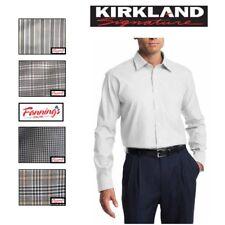 SALE! KIRKLAND Men's Tailored Fit Dress Shirt Long Sleeve VARIETY Size Color