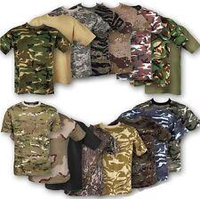 100% T-shirt di cotone mimetico militare stile esercito britannico PESCA CACCIA