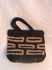 WALBORG  WOVEN STRAW tote shopper handbag purse handmade in Japan