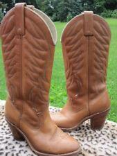 Vintage 1970s Dingo Tan High Heel Rockabilly Vegas Western Ankle Cowboy Boots 5