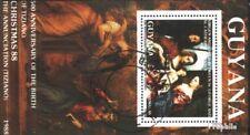 Guyana Block27 (kompl.Ausg.) gestempelt 1988 500. Geburtstag von Tizian EUR 9