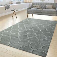 Modern Geometric Rug Trellis Design Soft Small Large Living Carpets Grey Mats