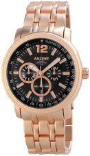 Herrenuhr Luxus GOLD Gliederarmband Armband Uhr Akzent Chronolook 3 Bar Quarzuhr