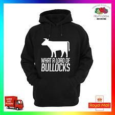 Carico di Bullocks contadino fattoria allevamento da latte AGRI Felpa con cappuccio Felpa con cappuccio Bull divertente MUCCA Maleducato