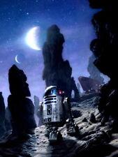 R2-D2 Tatooine Jawas Sandcrawler Star Wars Movie Art Huge Print POSTER Affiche