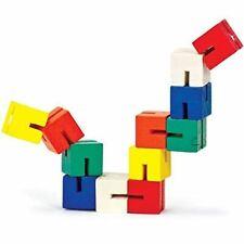 Kids Twist and Lock Wooden Blocks Fidget Fiddle Sensory Toy Twisty Mini Puzzle