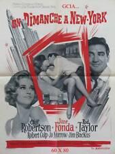 UN DIMANCHE A NEW-YORK - J.FONDA - P.TEWKBURY -1963-MGM