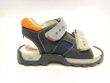 Poldino 1616 nabuk blu sandalo gomma
