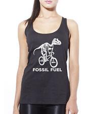 Fossil carburant Cyclisme-Dinosaure Cycle Vélo Débardeur Femme Tank Top