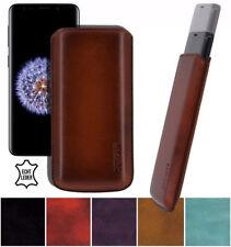 Exclusive Echt Leder Tasche Etui S9+ Handytasche für Samsung Galaxy S9 | S9 Plus
