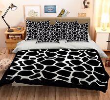 3D Classic Black Pattern 5 Bed Pillowcases Quilt Duvet Cover Set Single Queen CA