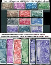 ** Italia 1948 Repubblica: RISORGIMENTO [13v; MNH ] Serie e Singoli