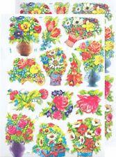 Chromo EF Découpis Fleurs Bouquet 7007 Embossed Illustrations Flowers