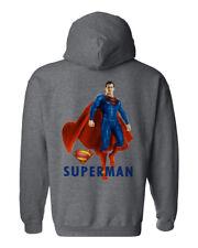 Fashion Superman Superhero Movie Comics Graphic Men´s Gray Hoddie (197)