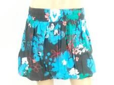 Original O'NEILL JUPE jupe d'été gris bleu clair fleurs bande en caoutchouc