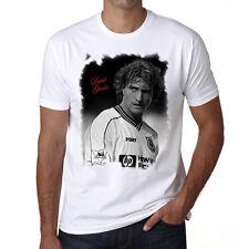 David Ginola t shirt homme, Manches Courtes, Coton blanc cadeau