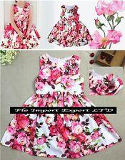 Vestito Bambina Abito Estate Rose - Girl Summer Roses Dress DG0016