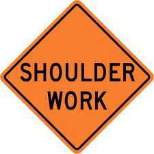 3M Reflective Shoulder Work Street Road Construction Sign - 30 x 30