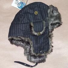 Chaos Pinstripe Aviator Hat, Graphite - Warm, Soft, Wool Blend - NWT!