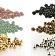 Tiny Round Druk Pressed Glass True2s 2mm Spacer Czech Glass 600 beads U-Pick