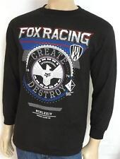 Fox Racing Infinite Speed Tee Mens Black Cotton Long Sleeve T-Shirt NWT NEW