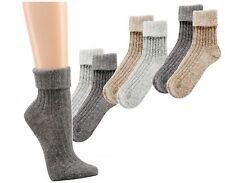 2 Paar Kuschel-Söckchen, Kaschmirwolle und Angorawolle, Damen winter Socken -245