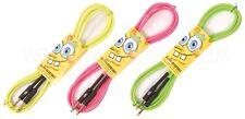 Spongebob Squarepants NEON Guitar / Instrument Lead with Colour Choice 3 Metres