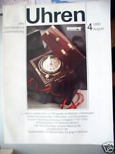 Uhren 4/1990 Breguets Automaten- Musikuhren Turmuhrenba