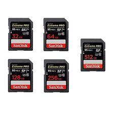 SANDISK SD EXTREME PRO Scheda di Memoria SDHC 32 64 128 256 512 GB Classe 10 U3