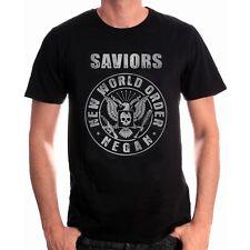 Saviors Rock New World Order Negan Eagle The Walking Dead T-Shirt Männer Mens