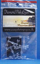 Diamond Fish Eyes 4mm 5mm easyshrimpeyes.dk Super Fluorescent TRANSPARENT