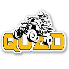 2 X Quad Bike pegatina de vinilo Auto Moto Ipad Casco Laptop Kids Diversión Atv Kids # 4168