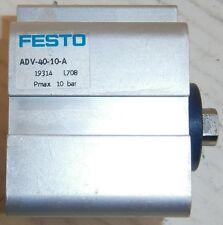 FESTO Air Cylinder, ADV-40-10-A, 145 PSI Max
