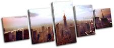 New York NYC Skyline City MULTI CANVAS WALL ART Picture Print VA