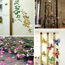 12 x 3D Schmetterling Wand Kühlschrank Magnete Sticker Kunst Heim Aufkleber