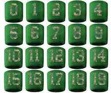 #0-19 Number Sweatband Wristband Baseball Lacrosse Soccer Green Camouflage Camo