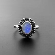 925 Sterling Silver Ladies Ring MOONSTONE TURQUOISE LABRADORITE Gemstone Jewelle