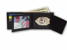 Bifold Credit Card Wallet with hidden Badge Holder 418