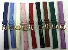 Apollo Ladies Superior quality, genuine calf leather watch straps 10mm,12mm,14mm