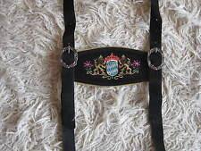 Trachten Träger  H Stegträger schwarz braun bayrischer Trachtenhosenträger Pulsz